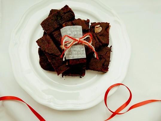 チョコレート不使用の米粉のりんごブラウニーレッスンの画像
