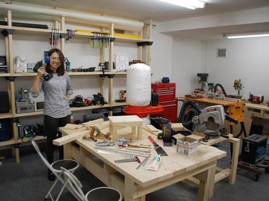 女性のためのDIY教室 電動工具で木工工作(体験編)の画像