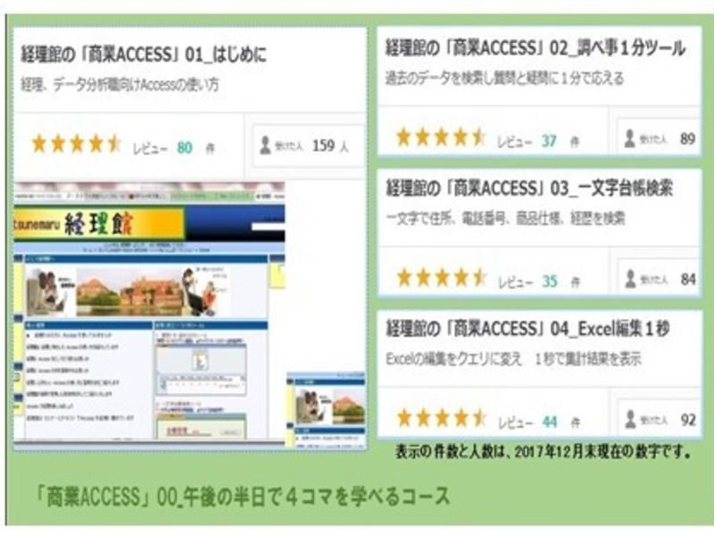 経理館の「実践Access」00_4コマ1セットコースの画像