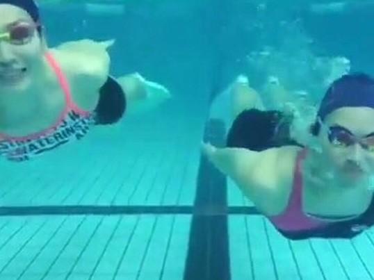 水泳初心者の画像
