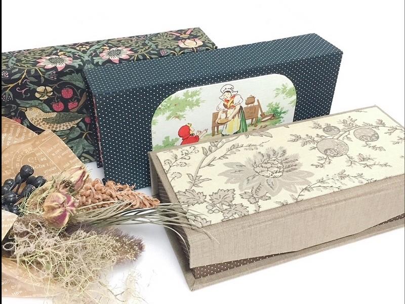 オリジナルキッドを使ったカルトナージュの小箱のワークショップの画像