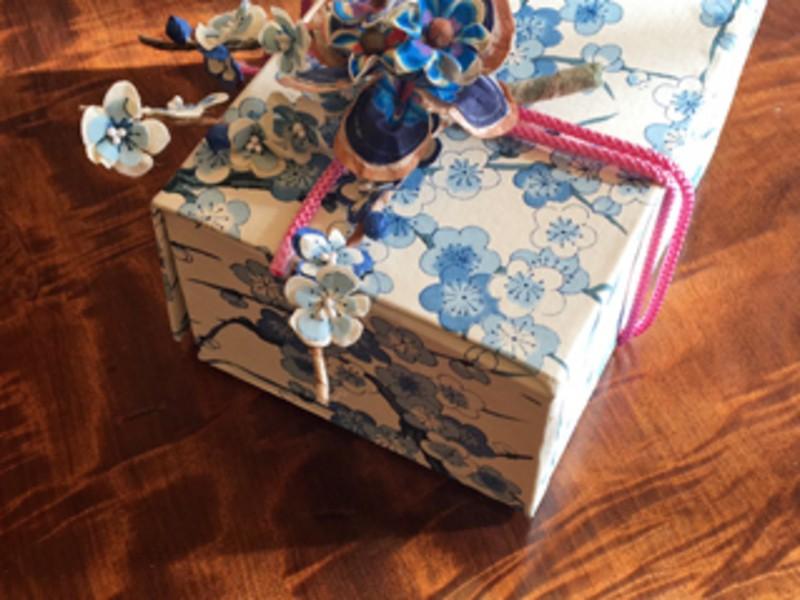 和紙の花コサージュでおとめ花はこの画像