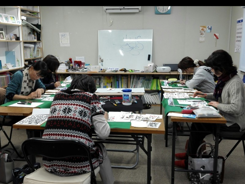 書道より簡単で気軽に楽しく短時間でできる筆ペン一本の筆文字体験講座の画像