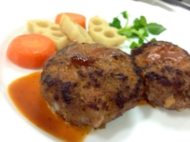 お料理入門 ハンバーグステーキ 根菜のグラッセ かぶのスープの画像