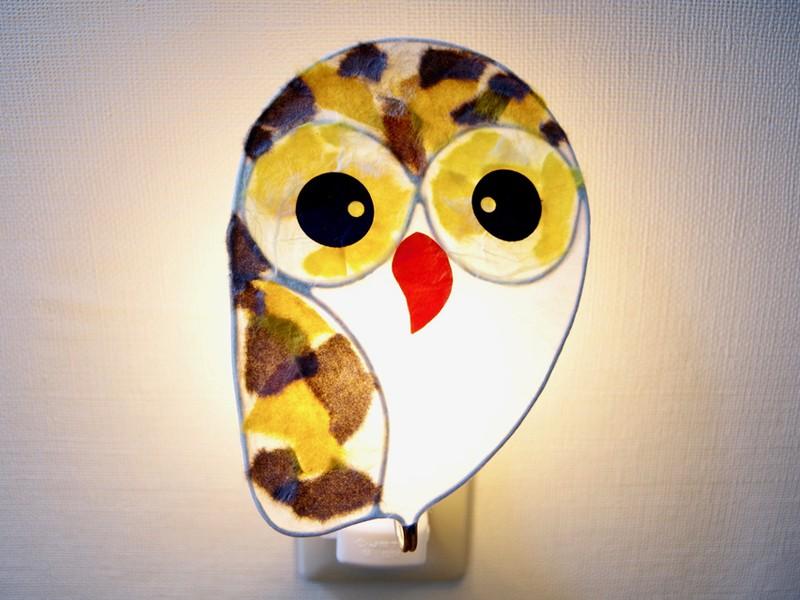 【東京自由が丘 手作りライト】幸せを呼ぶ!フクロウライトの画像