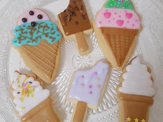 【初心者向け】アイスクリームのアイシングクッキー♡の画像
