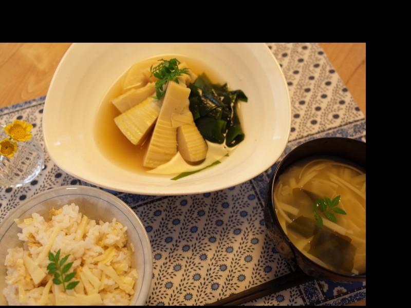 家庭料理を基礎から学べる教室です 旬の味 新筍を使って3品の画像