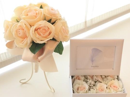 プレ花嫁♡ブーケDIY♡初めてでも簡単にブーケが作れます!の画像