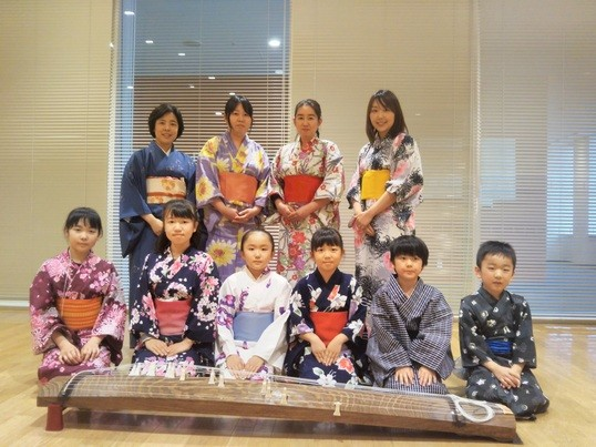 親子で触れる日本文化〜書道と箏(琴)体験〜源氏物語・夕顔の世界への画像