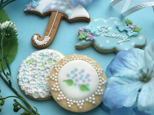 アイシングクッキー1dayレッスン〜梅雨のアジサイ〜の画像