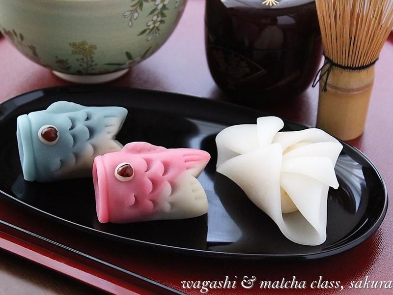 【4月限定和菓子】可愛い「こいのぼり」と「かぶと」を作ろう!の画像