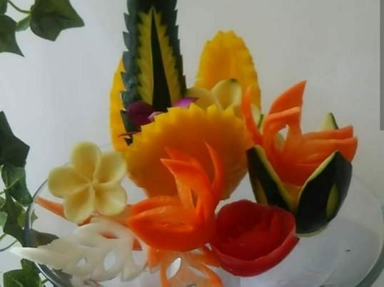 フルーツカービング~野菜カービング~体験①の画像