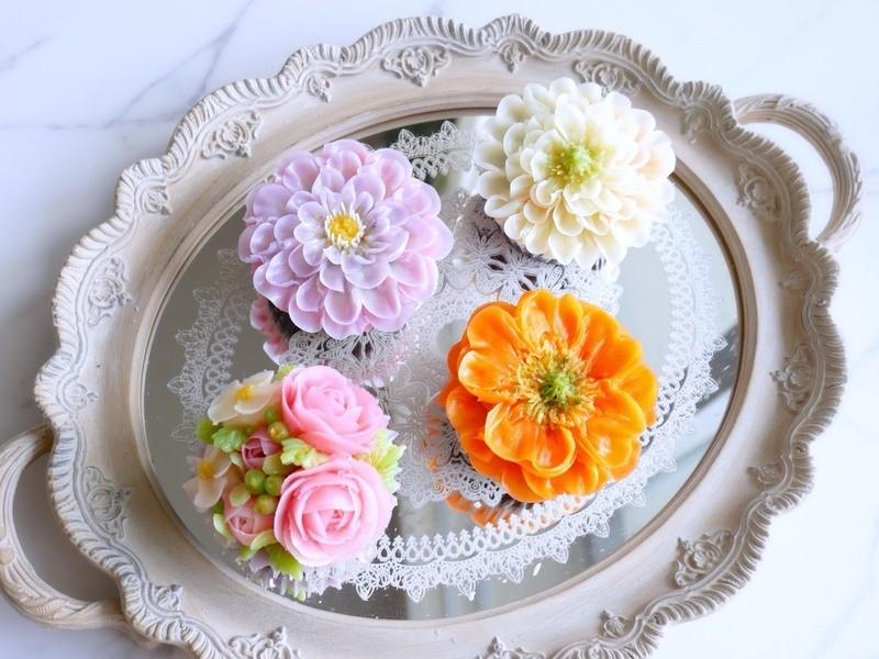 まるで生花のような透明感♡フラワーケーキ基礎レッスンの画像