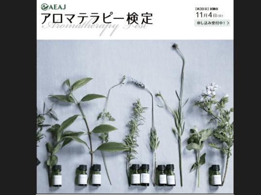 日本アロマ環境協会主催アロマテラピー検定直前3時間集中対策講座の画像