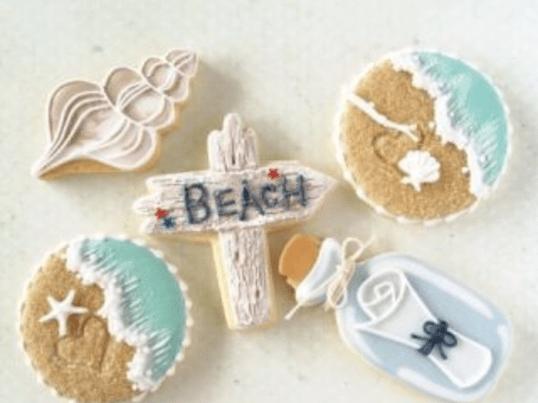 海をイメージにしたアイシングクッキー!基本から教えます!の画像