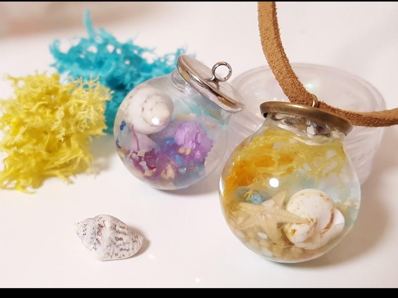 限定☆夏にぴったり!本物貝殻&天然石のアクセサリー作りの画像