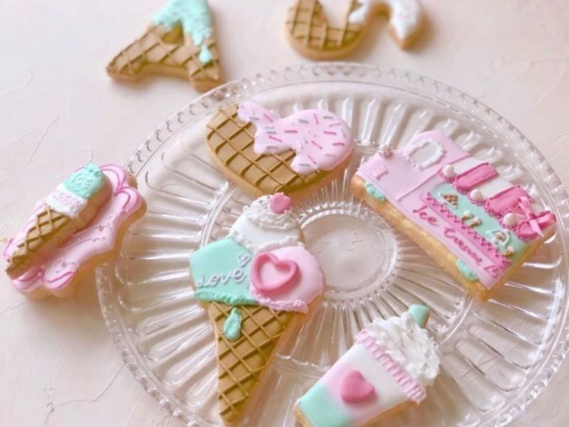 【夏季限定】夏のアイスクリームホリック♪アイシングクッキーの画像