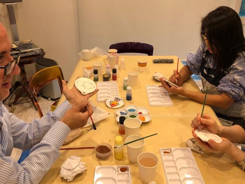 イタリア陶器・マヨリカ焼 絵付け教室の画像