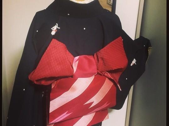 カジュアル着物で着やせ可愛い着付けと帯結び&かんたんヘアセットの画像
