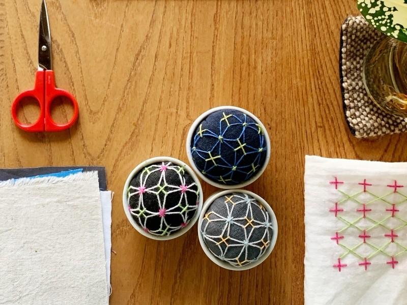 縫い物が楽しくなる!オリジナル★針山★作り(刺し子・一目刺し)の画像