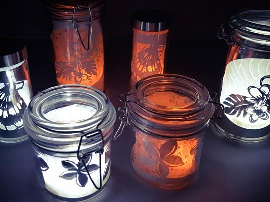 切り絵の楽しさを学びながらボトルランプを作って、お部屋に飾ろう!の画像