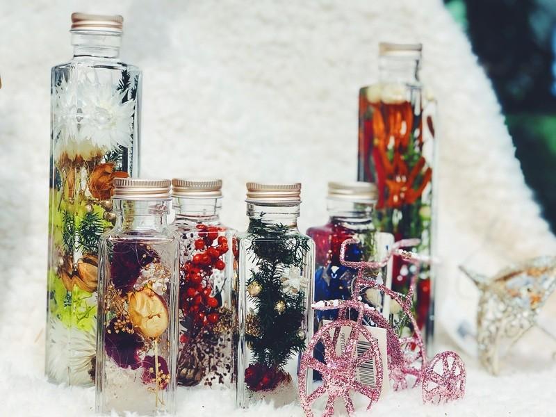 【tukuriba調布店開催】★★冬のハーバリウム製作 2本の画像