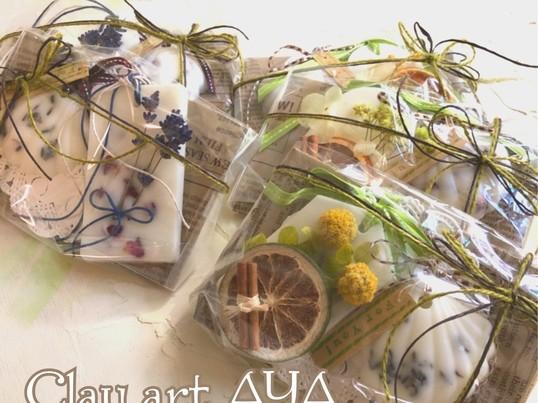 火を灯さないアロマキャンドルアロマワックスバー作りの画像