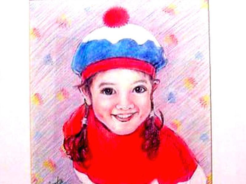 町家で色鉛筆の似顔絵を描く!(1回簡単コースも可能です¥2500)の画像