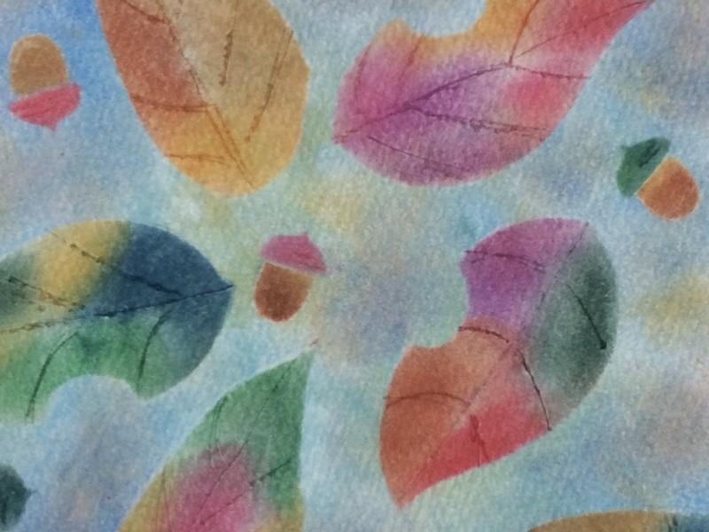 パステルアートで紅葉を描こうの画像