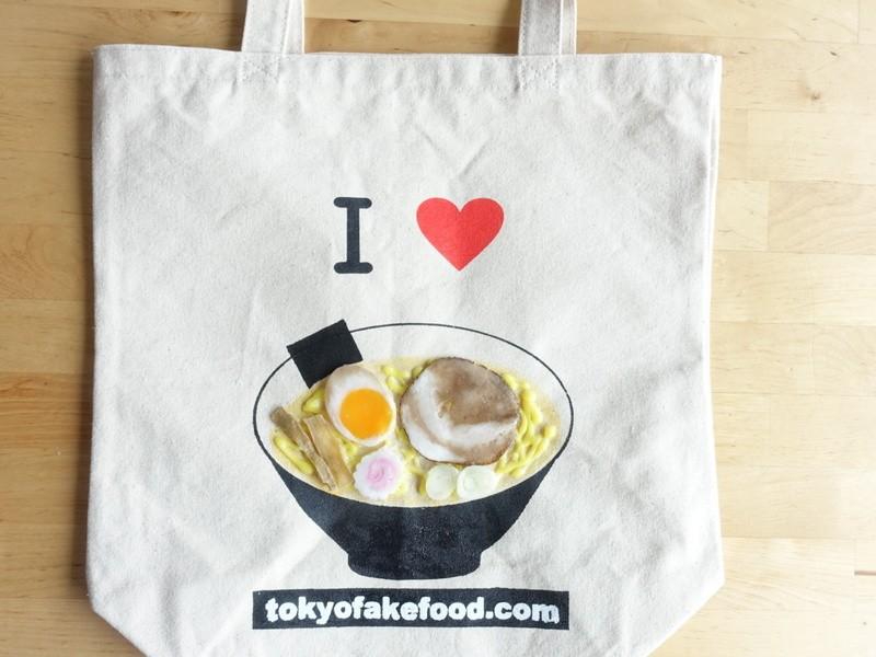 食品サンプルがくっついたトートバッグを作ろうの画像