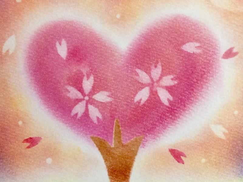 季節のアート桜を描こうの画像