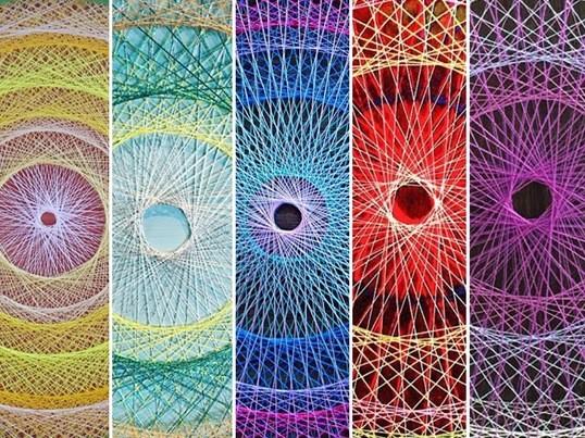 初めての「糸かけマンダラ」作り グルテンフリー&ヴィーガンランチ付の画像