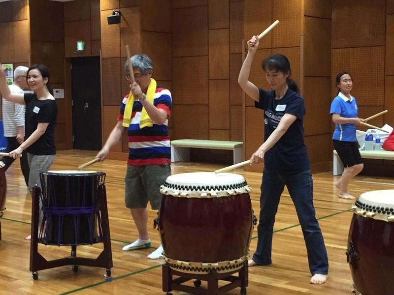 和太鼓でエクササイズ♪~二の腕引き締めプルプルを解消!!の画像