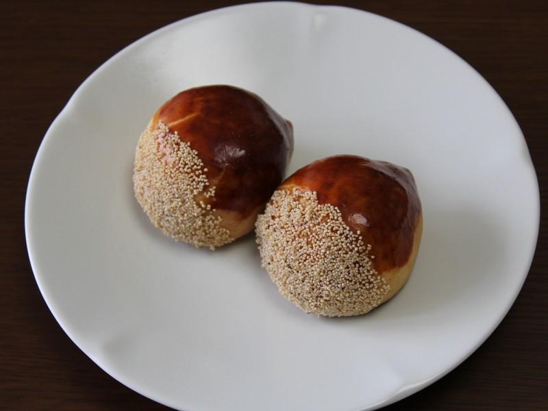 【和菓子】かわいい「栗まんじゅう」と練り切りの「柿の実」に挑戦!の画像