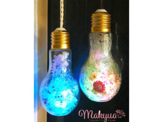 【総武線 新小岩駅7分】LED電球型ボトルフラワー2個3,000円の画像