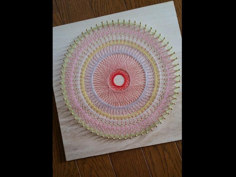 糸かけ曼荼羅作成体験の画像