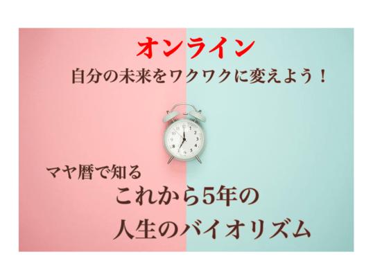 オンライン*マヤ暦でわかる人生の流れ。5年後までの人生年表作成講座の画像