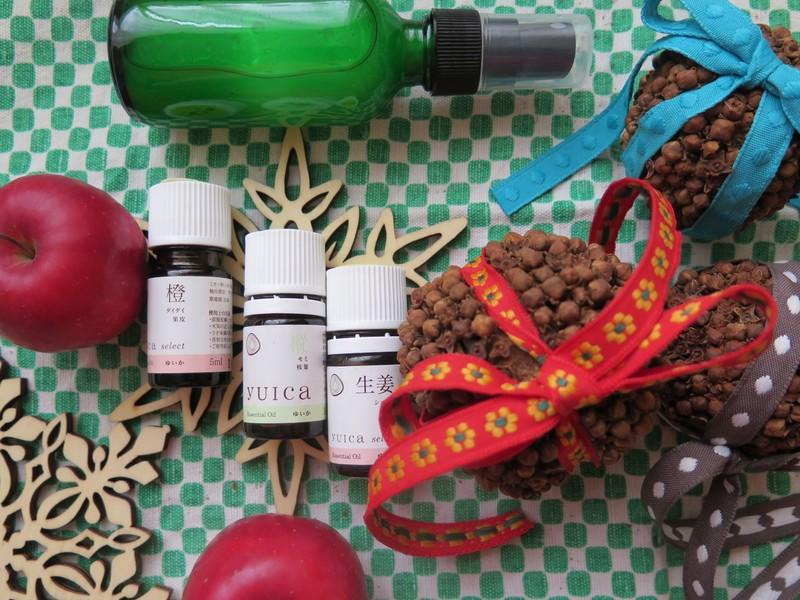 <森のアロマクラフト>モミ香るアロマスプレー&フルーツポマンダーの画像