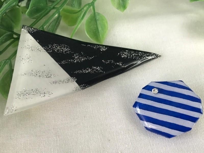 プラ板で大人可愛いヘアアクセサリー+レジン液1本プレゼントの画像