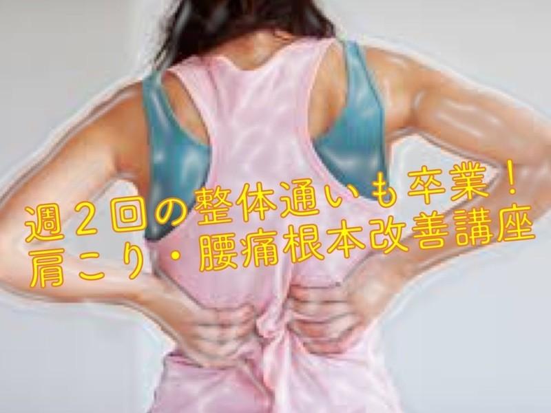 週2回の整体通いも卒業!肩こり・腰痛根本改善講座の画像