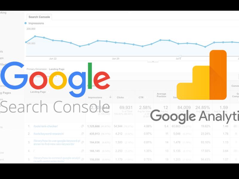 GoogleAnayticsとSearch consoleの設定の画像
