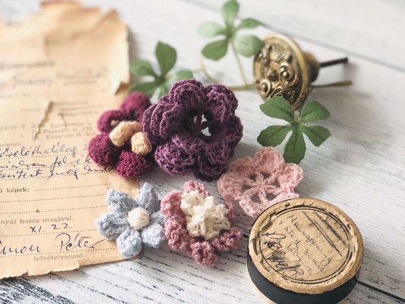 【中級者向け】かぎ針編みで憧れのお花モチーフを編むワークショップの画像