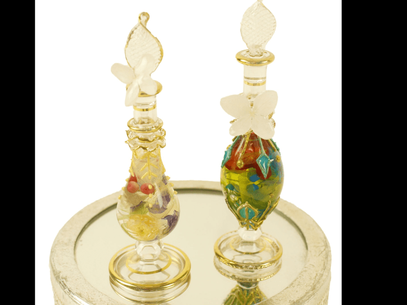 オリエンタル香水瓶風ハーバリウムの画像