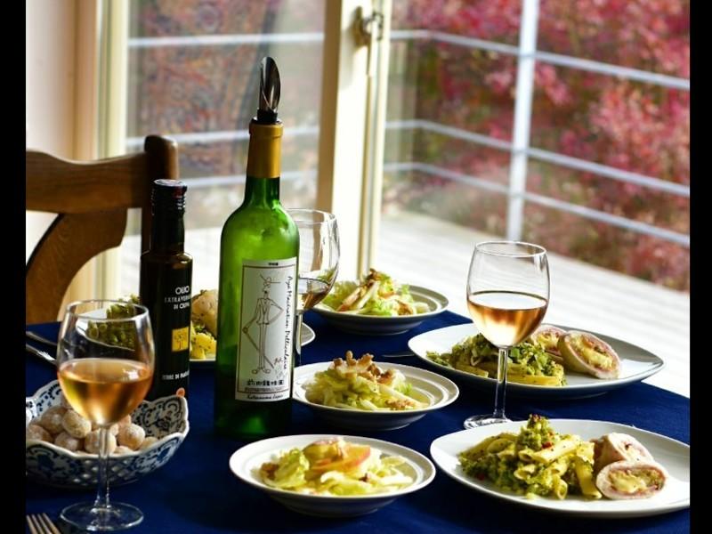 ワイナリー前田龍珠園とのコラボ ワイン付き料理レッスンの画像