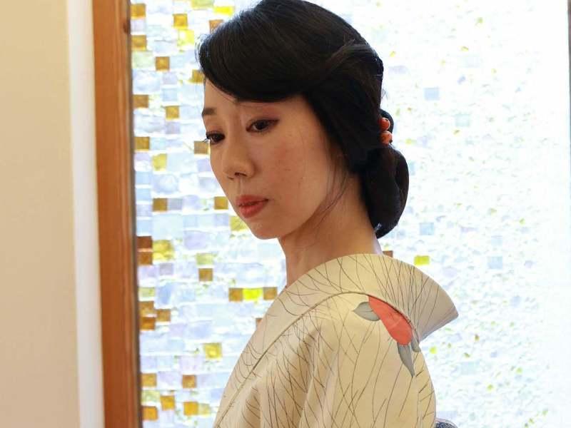 プロのヘアメイクとしての教養を身につける講座 和装アップスタイル編の画像