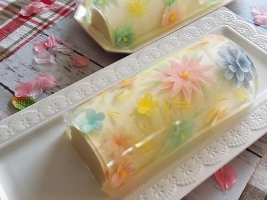 食べられるお花♡フラワーゼリーレッスンの画像