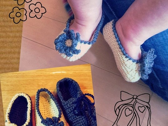 ベビーのための編み物【ベスト・シューズ・帽子etc.】の画像