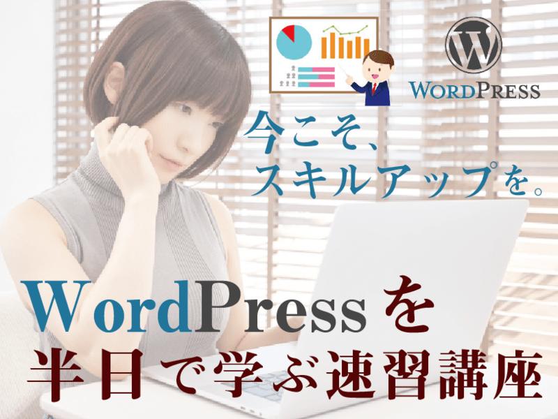 初心者向け★半日(6時間)で学ぶWordPressスキルアップ講座の画像