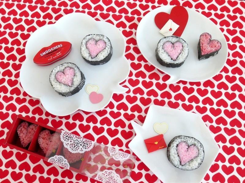 [バレンタイン柄]サクッと1時間で巻き寿司1柄の画像