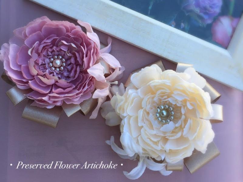 初心者向け!お花のコサージュ作りの画像